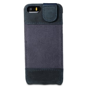 Bouletta-FlipCase-Canvas-Blau-Leder-Flip-Case-fuer-Apple-iPhone-5S-5_b2
