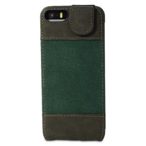 Bouletta-FlipCase-Canvas-Gruen-Leder-Flip-Case-fuer-Apple-iPhone-5S-5_b2